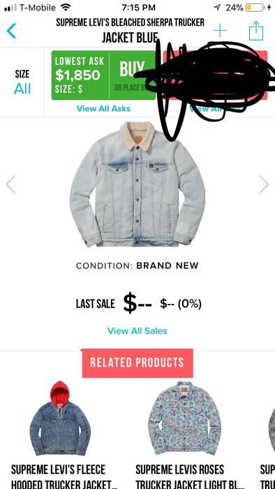 f1146b19cd Supreme  RARE  Supreme Levi s Jean Jacket Size m - Denim Jackets for ...