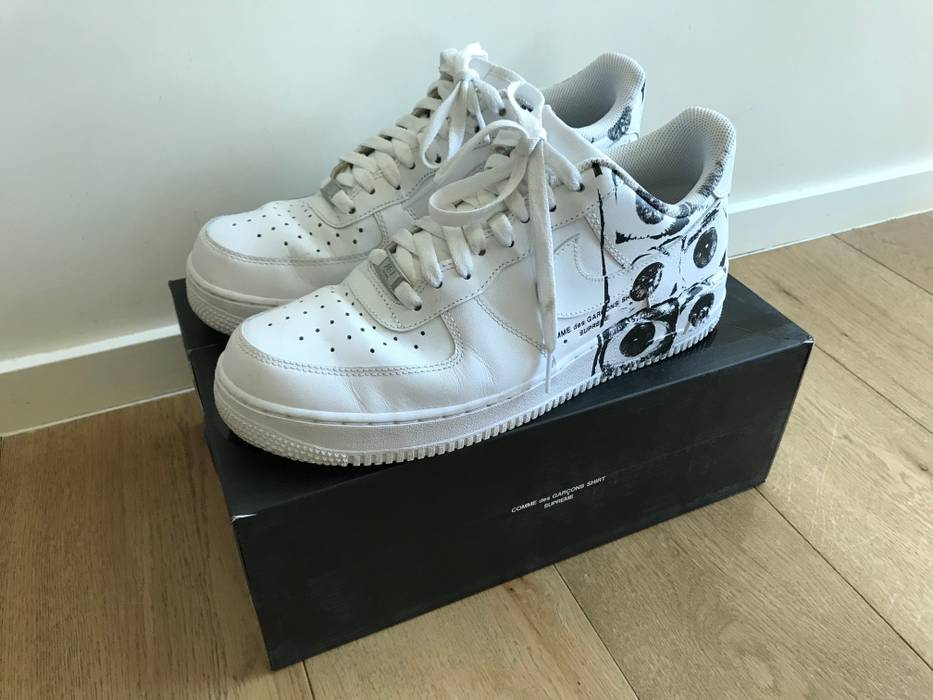 Supreme Supreme X CDG X Nike Air Force 1 Size 9.5 - Low-Top Sneakers ... 4f3e2c4d9