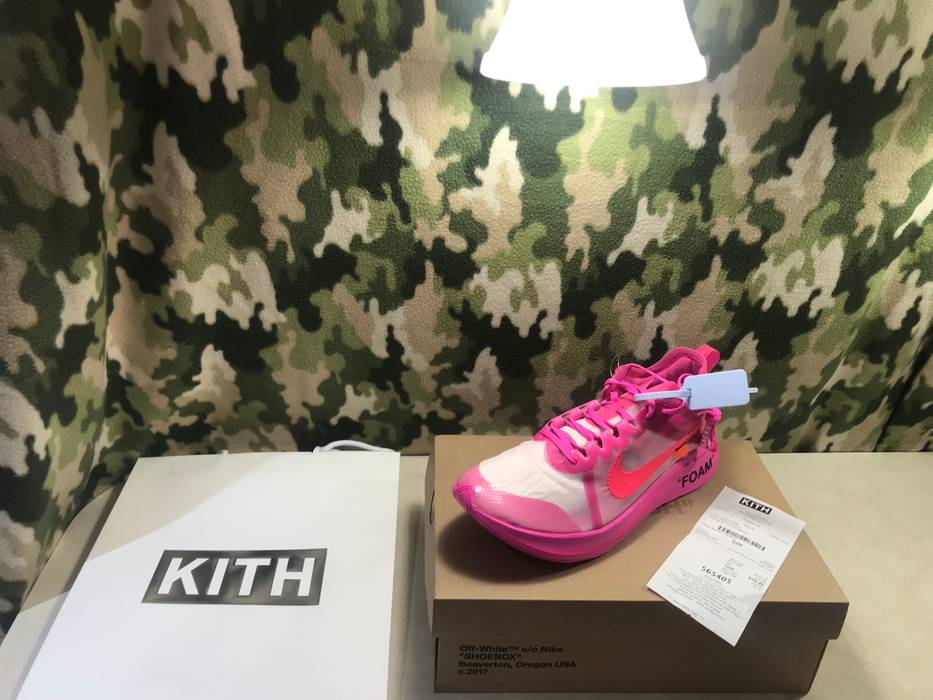 b531dc107db3 Nike The 10 Off White Zoom Fly Pink Size 11.5 - Low-Top Sneakers for ...