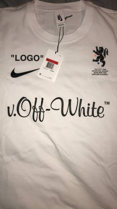 cf5ee0260 Off-White Nike x Offwhite Soccer Shirt Size l - Short Sleeve T ...