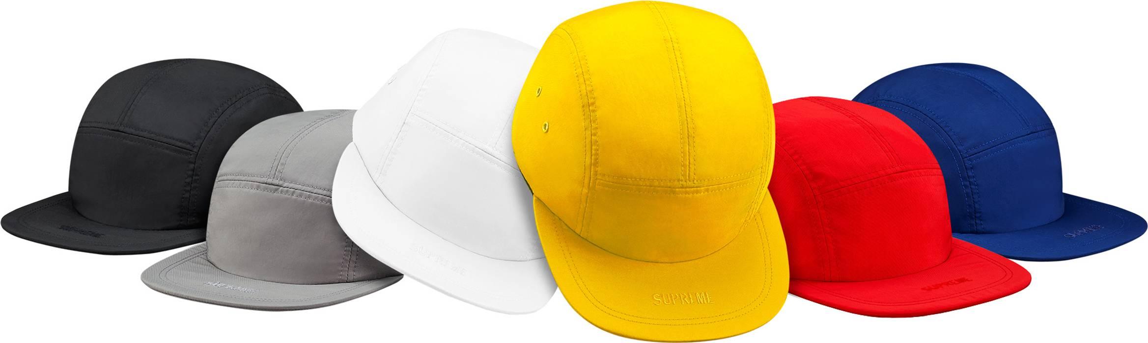 337da870fb6 Supreme Visor Logo Camp Cap Black Size one size - Hats for Sale ...