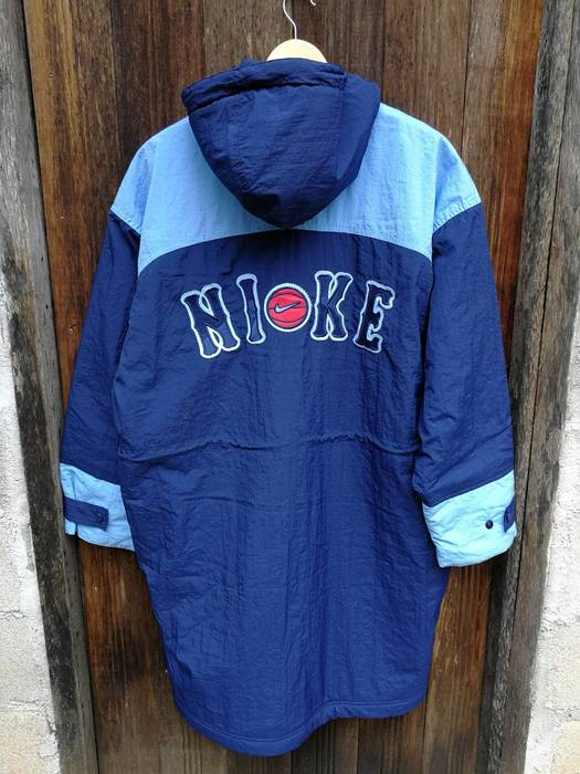 c5c4262c85d9 Nike Embroidery NIKE big logo long jacket with hooded Size m ...