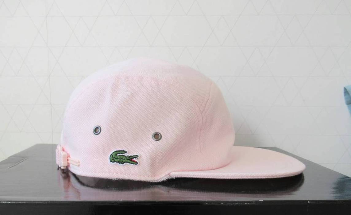 Supreme BRAND NEW Pique pink hat snapback cap brand new supreme lacoste  Size ONE SIZE 14786840f97