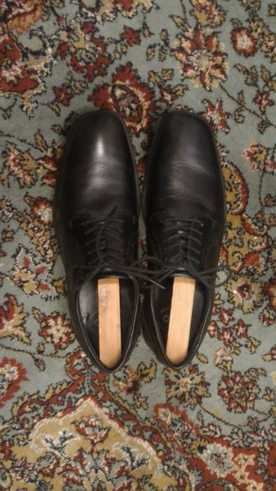 Ecco Plain Toe Black Dress Shoes Size 10 Formal Shoes For Sale