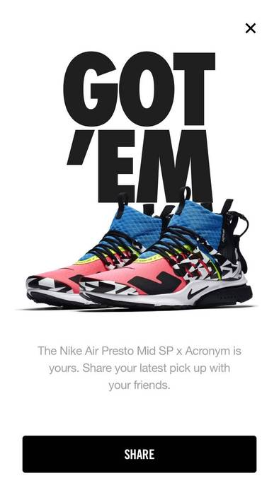 wholesale dealer c0ac6 3afc6 Nike Nike Air Presto Mid ACRONYM Racer Pink Black Photo Blue Size US 10  EU