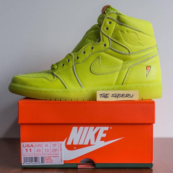 Jordan Brand. Air Jordan 1 Retro Hi OG G8RD (Gatorade Lemon Lime). Size  US  11 ... de63883e2