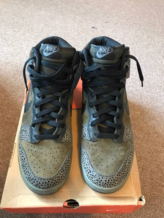 25384aaa076fc5 Nike Nike Dunk Hi Safari Size 11 - Hi-Top Sneakers for Sale - Grailed