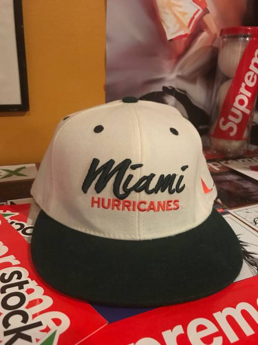 brand new bb717 a53c7 ... get vintage miami hurricanes snapback hat size one size 3c19a cbeab