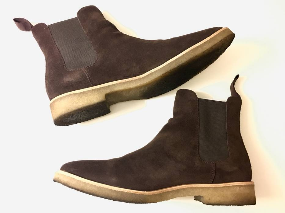 746aa81dbfd5a0 Mark Mcnairy New Amsterdam Mark McNairy New Republic Man Brown Suede  Houston Chelsea Boots Size 9.5