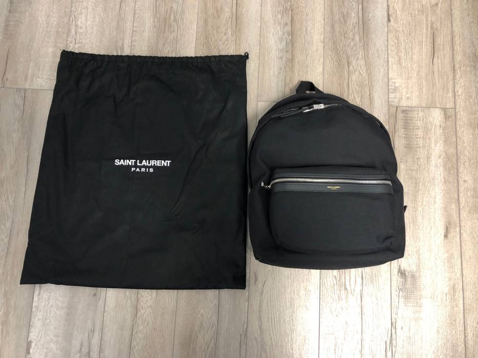 50b822f32fe843 Saint Laurent Paris City Backpack In Nylon Canvas And Leather Size ONE SIZE