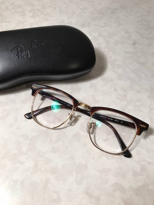 615b5895c18 RayBan. Ray-Ban Clubmaster Tortoise Gold Eyeglasses Frames Clear Lenses  Cartier Gucci Chrome Hearts Versace Matsuda. Size  ONE SIZE
