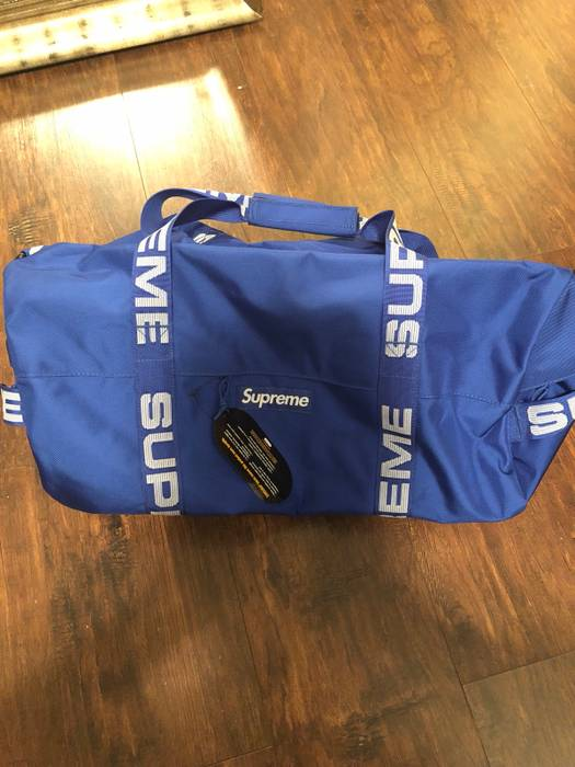 Supreme (SS 18) Royal Blue Duffel Bag Size one size - Bags   Luggage ... 0f11908309306