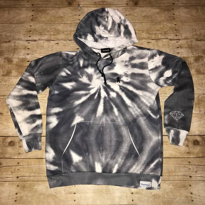 42a11d61132 Diamond Supply Co Grizzly grip tape diamond supply co digital Tie Dye  Skateboard Hoodie Size M