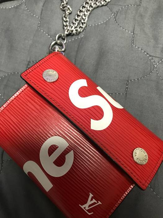 52832e843009 Chain Wallet Louis Vuitton Supreme - Image Of Wallet