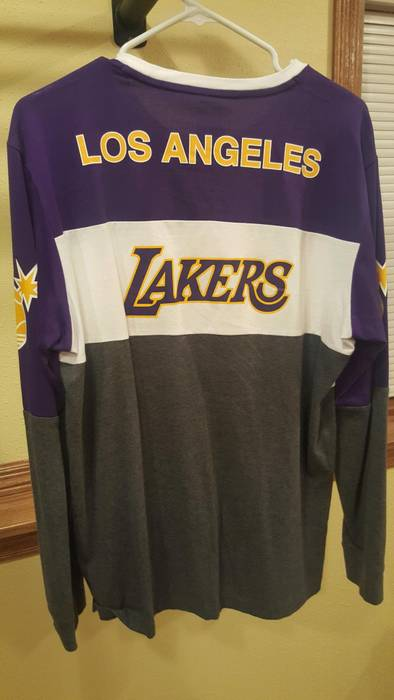 Adidas NBA Adidas x The Hundreds Lakers Long Sleeve T-Shirt Size US L   7338a098e