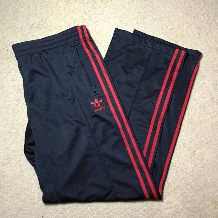 c5afa40af8fd Adidas Mens Adidas Navy With Red Line Stripes Track Athletic Pants OG XL New  with Tags
