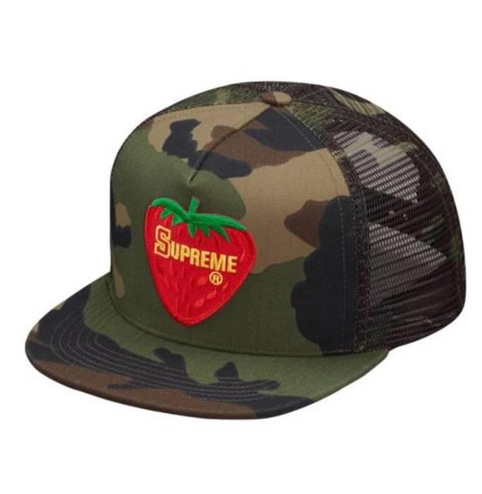 Supreme Supreme Strawberry Mesh Back 5-panel Camo Hat Size one size ... 35a287aa446