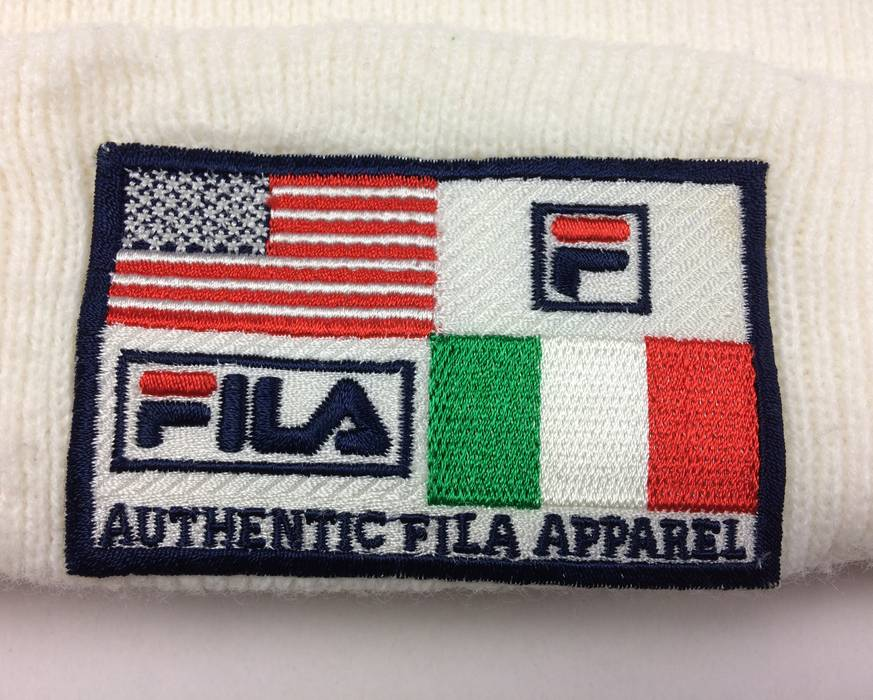 e48474e4b47 Fila Vintage Fila Ski Hat Big Logo Winter Snow Cap Fila Hats Skate Hip Hop  Style