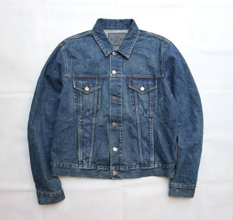 234a9bb6cfc7 Gucci Trucker Denim jacket good condition. Made in italy. Not Louis ...
