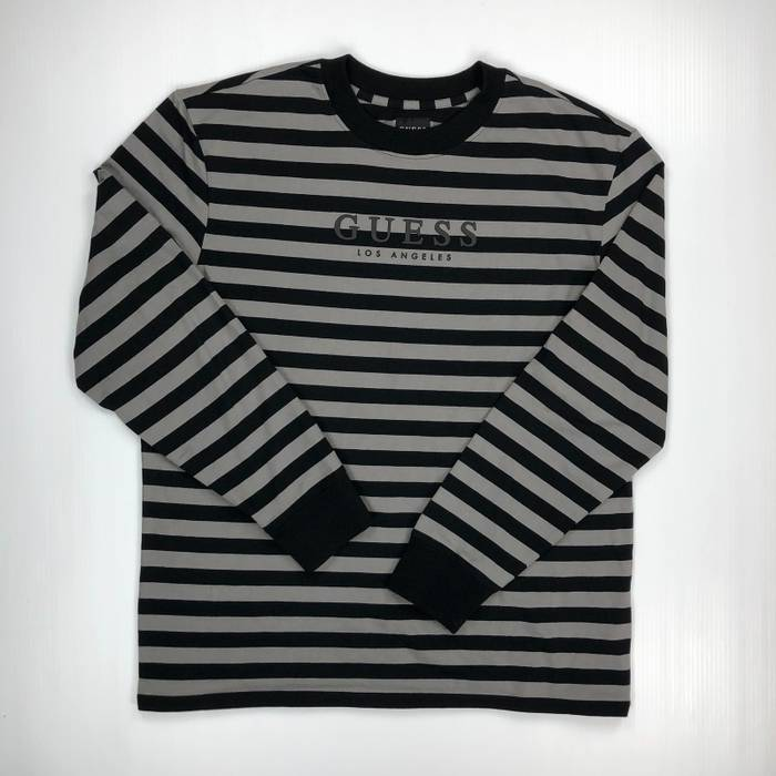 Guess Final Drop Guess Jeans Striped Long Sleeve Black Gray