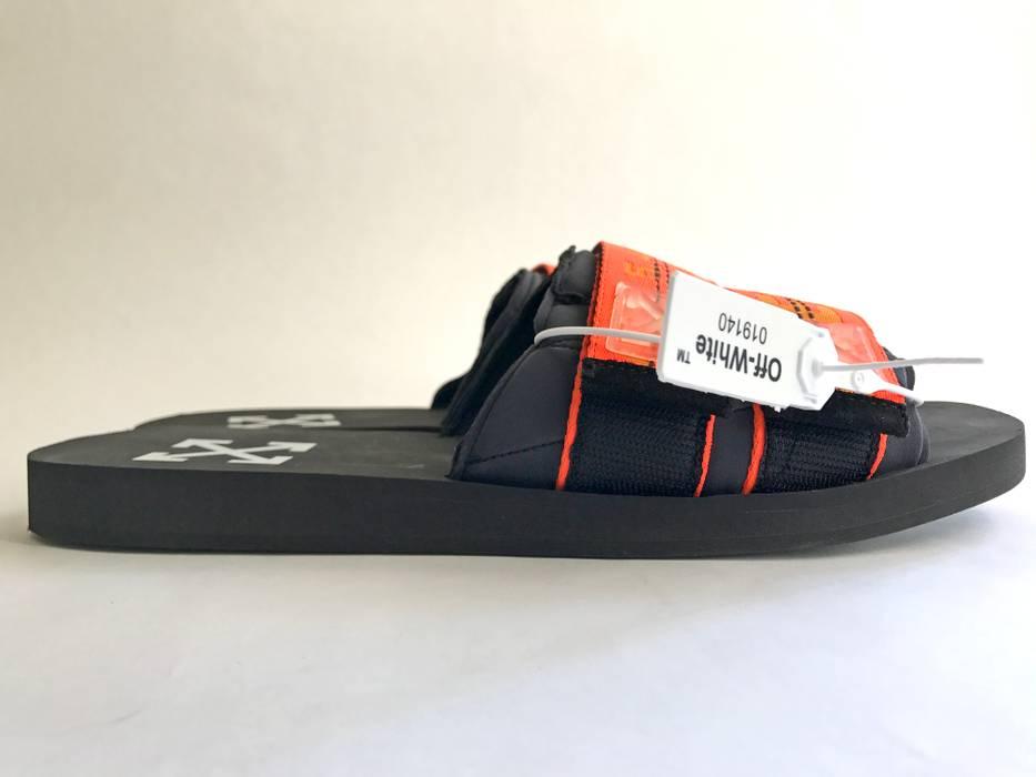 off white black orange industrial slides size 11 sandals for