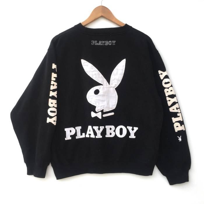 13c5c612f72 Playboy Black PLAYBOY Bunny Big Logo Pull Over Sweatshirt   Jacket NOT  Hermes Prada Gucci Comme