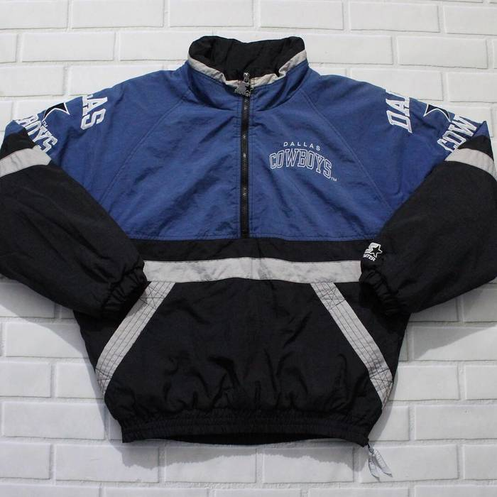 Starter Vintage Dallas Cowboys Starter Half Zip Jacket Size US M   EU 48-50 6028e4e26