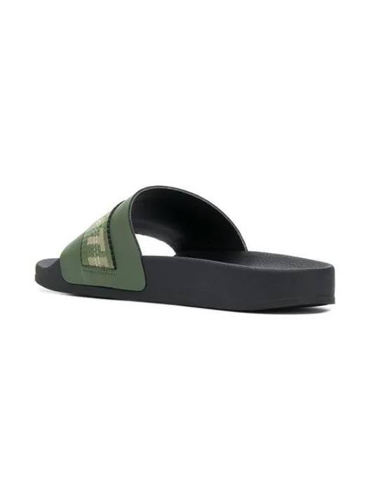 b547994e81626f Off-White logo belt-strap sliders Size 11 - Slip Ons for Sale - Grailed