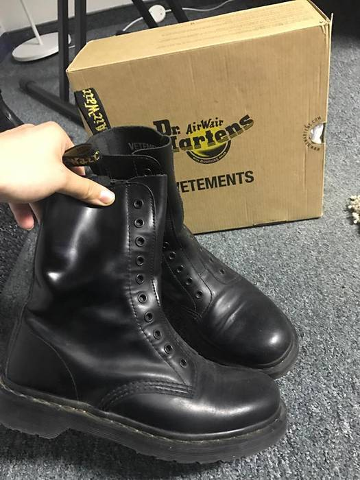 59d8dec55e00 Vetements Vetements x Dr. Martens Size 8 - Boots for Sale - Grailed