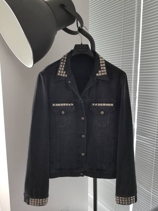 Gucci Denim Jacket With Embroideries Black Panther Blind For