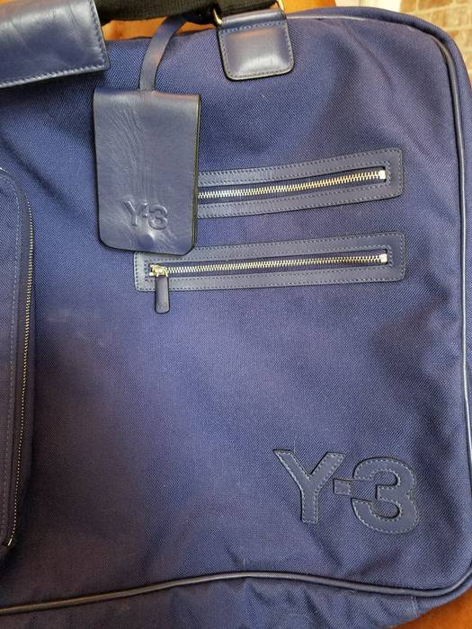 Y-3 Adidas Y-3 Yohji Yamamoto Large Blue Travel Bag Size one size ... ded60cd74f65d