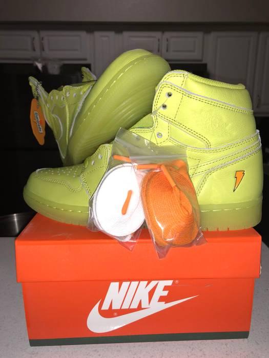 ff503ee1a63 Nike NIKE AIR JORDAN 1 HIGH OG GATORADE G8RD CYBER YELLOW LEMON LIME AJ5997- 345
