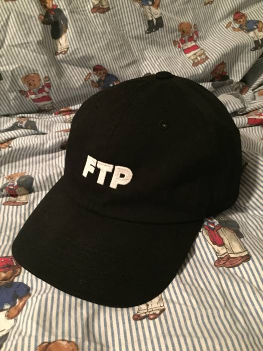 d4af801b2f8 Fuck The Population. Black Glow in the dark logo FTP hat. Size  ONE SIZE