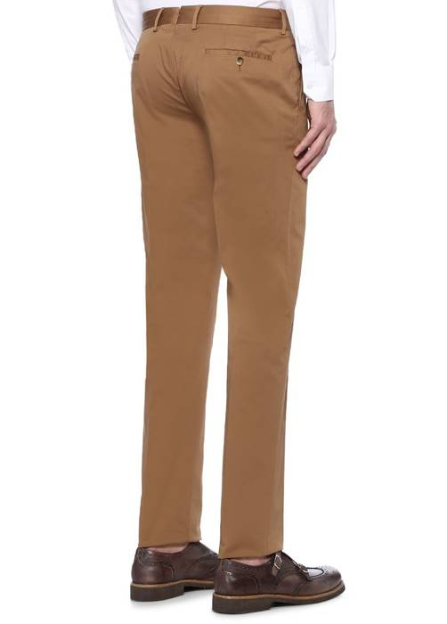 Caruso Caruso Light Brown Cotton Pants Trousers Authentic Size 34