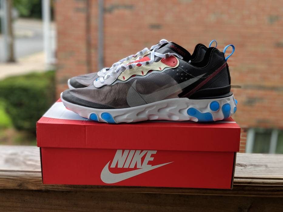 b4068d5fe6b83 Nike Nike React Element 87 Photo blue Size 12 - Low-Top Sneakers for ...