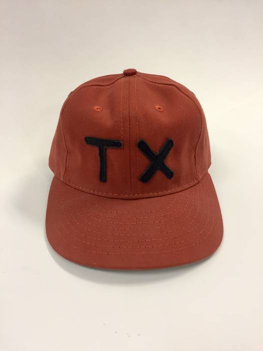 Ebbets Field Flannels TX Custom Texas Ball Cap Burnt Orange Size one ... e6bec49af56