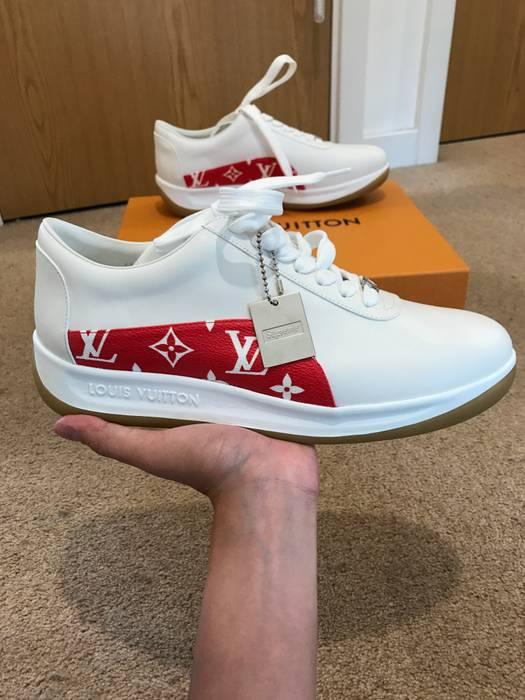 Supreme Supreme x Louis Vuitton White   Red Sport Sneaker !! 100% Legit ! bfc660ba7
