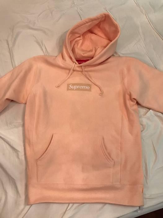 Supreme Peach Box Logo Hoodie XL Size xl - Sweatshirts   Hoodies for ... 3af5870ca