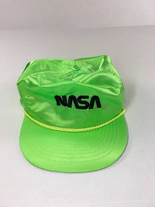 e0818ae33a9 Vintage Vintage NEON Limes 80s NASA SnapBack style Hat Size one size ...