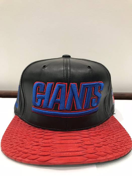 Just Don Black Leather Giants Don C Hat Size one size - Hats for ... 560b5e723f3