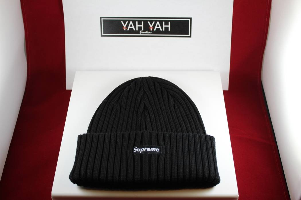 a7483766a1e Supreme Supreme Overdyed Ribbed Beanie Washed OS Black SS18 Size ONE SIZE