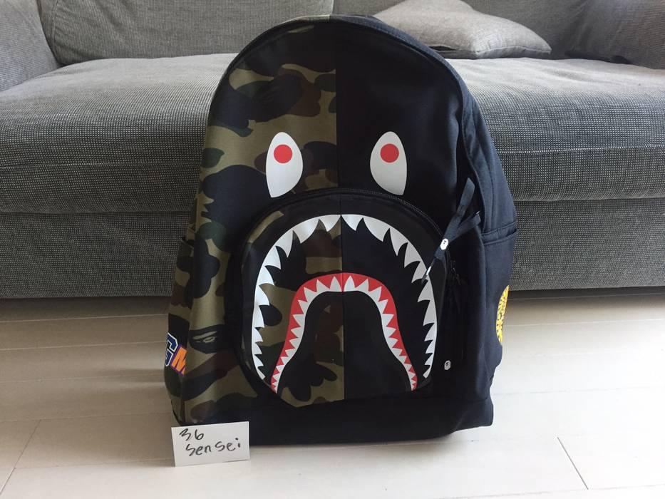 11bac071711 Bape BAPE Green Camo Shark Day Backpack Size one size - Bags ...