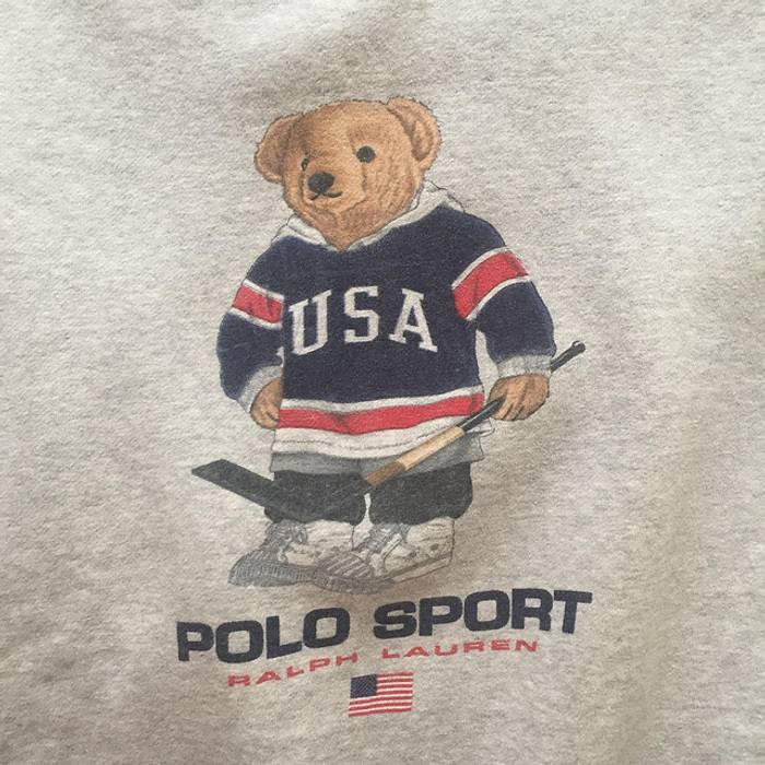 Ralph Lauren Sport Vintage Ralph Lauren Polo Sport Hockey Bear ... 5960ebb29