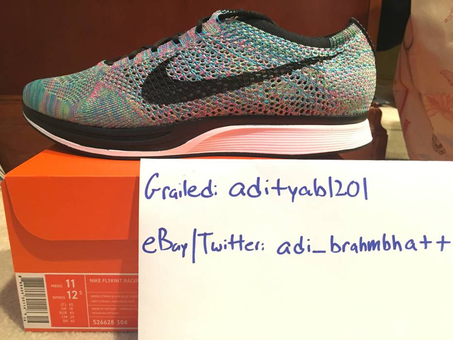 af5973f7592bc9 Nike Flyknit Racer Multicolor 2.0 Size 11 - Low-Top Sneakers for ...