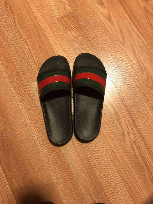 7e351d3ddbe5 Gucci Web Slide Sandals Size 10 - Slip Ons for Sale - Grailed