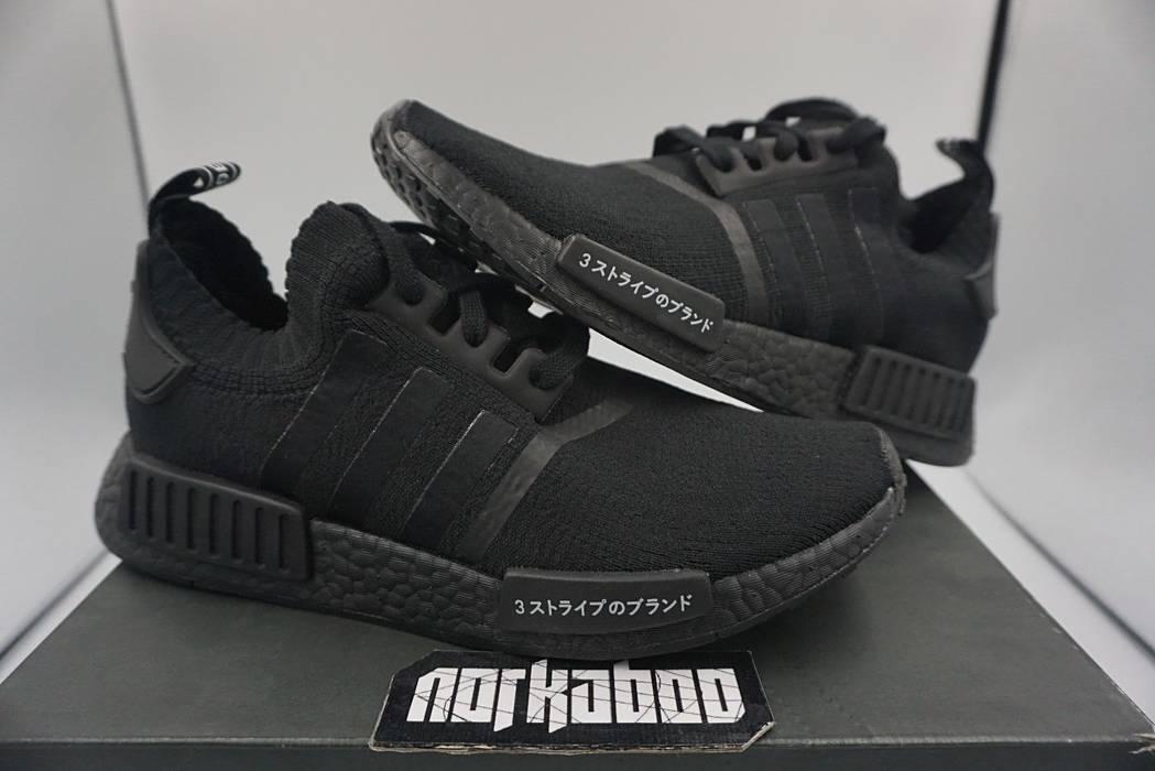d5fc3040d6e09b Adidas Adidas NMD R1 PK Japan Triple Black Primeknit Boost BZ0220 Size US 12    EU
