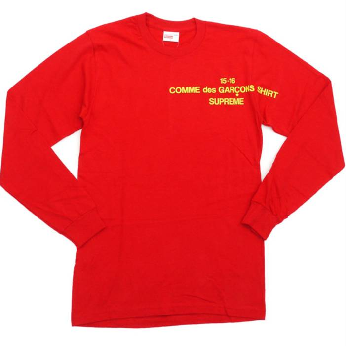 Supreme Supreme x Comme Des Garcons CDG Long Sleeve Tee T-shirt   Red Yellow 272082b96538