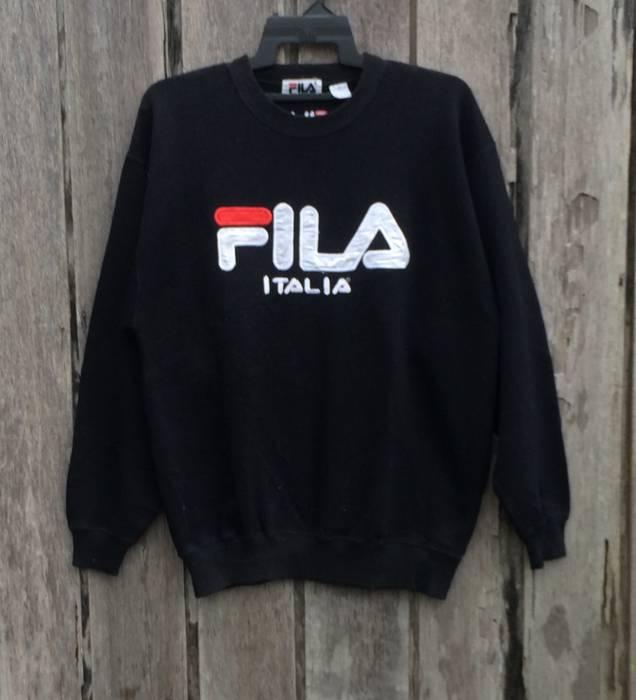 afbf2a01bb23 Fila Vintage!! Rare Fila Spell Out Big Logo Sweatshirt Size US M   EU