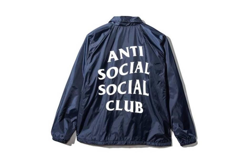 41fdff157 Antisocial Social Club New Anti Social Social Club Navy Coach Jacket ...