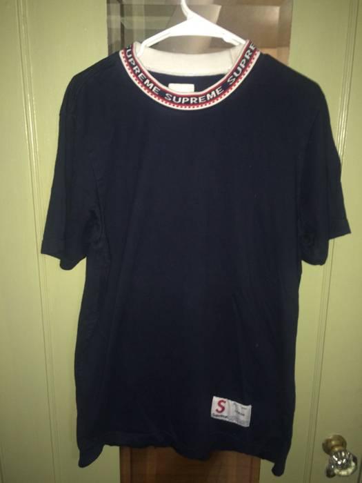 Supreme Supreme Collar Logo Tee Size L Short Sleeve T Shirts For